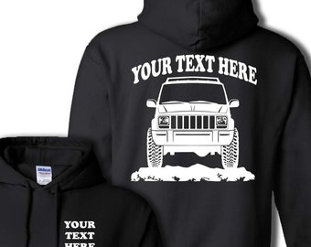 020ff389475b JEEP CHEROKEE SUV 1987 - 2001 Truck Offroad 4x4 Personalized Pullover Hoodie!  50 50 cotton polyester -  HOR014