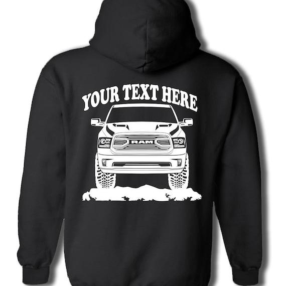 Dodge Ram Hoodie >> Dodge Ram 2018 Truck Black Pullover Hoodie 4x4 Personalized Etsy