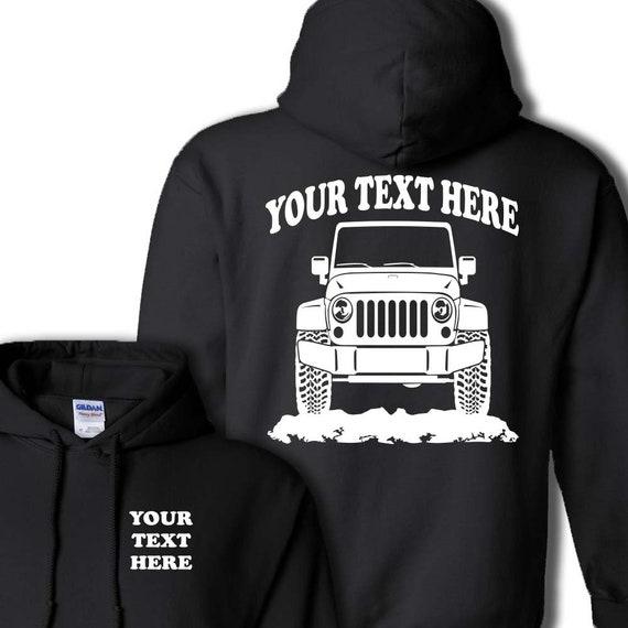Jeep Wrangler Hoodie Sweater 4x4 Cherokee Crewneck T Shirt Sweatshirt Pullover