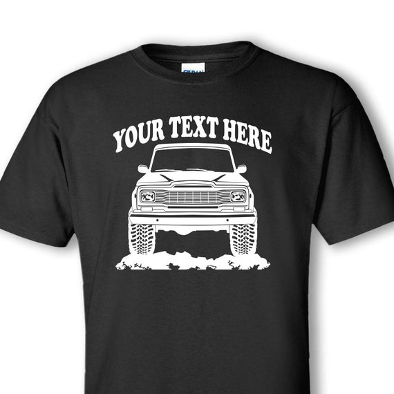 JEEP - J20 J10 - J-Truck Honcho 1979 - Pig Nose Grille - 4x4 - Off Road -  Personalized Cotton T-shirt - #TOR064