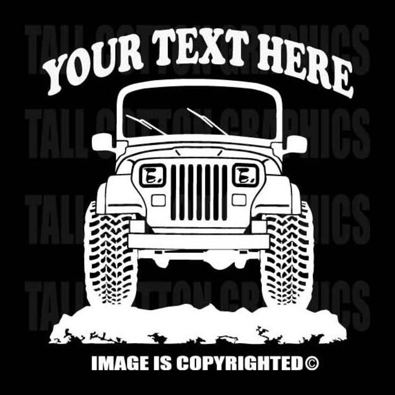 Jeep Yj Wrangler 4x4 Offroad Personalized Vinyl Decal Etsy