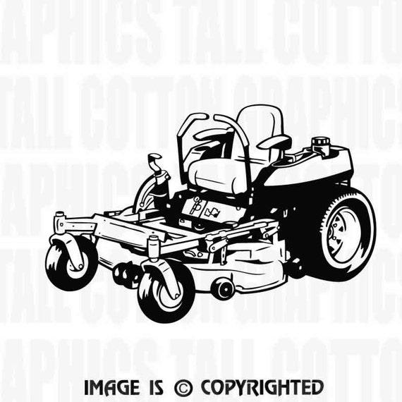 Zero Turn Commercial Lawnmower Vinyl Decal Jb034