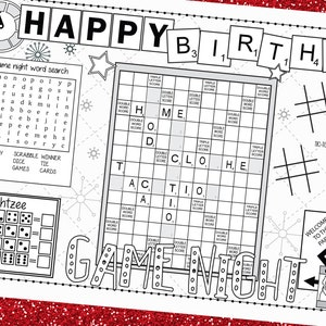 Speakeasy Coloring Printable Activity Placemat for Adult Happy Hour Printable Coloring Placemat Bar Coloring Picture Coloring Activity