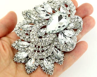 Rhinestone brooches for your wedding and DIY by Crystalitzy bc44918ac5de
