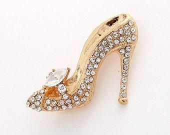 db03d781128b Cinderella Shoe Brooch