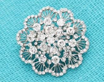 Rhinestone Wedding Brooch Vintage Bouquet Brooches Bridal Sash Broach DIY Jewelry Crafts Crystal Broaches