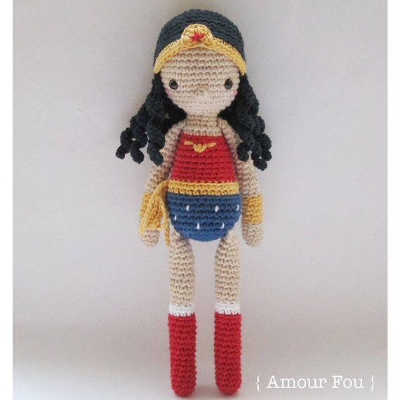 Wonder Woman Crochet Pattern by Amour Fou | Etsy
