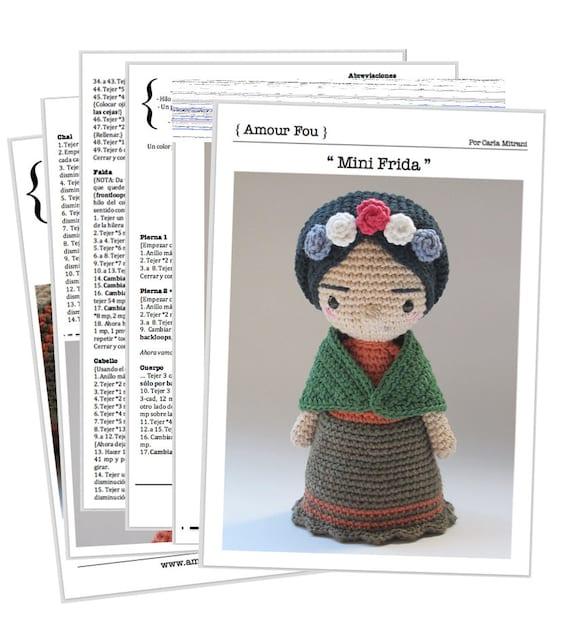 Mini Frida Crochet Pattern by Amour Fou   Etsy