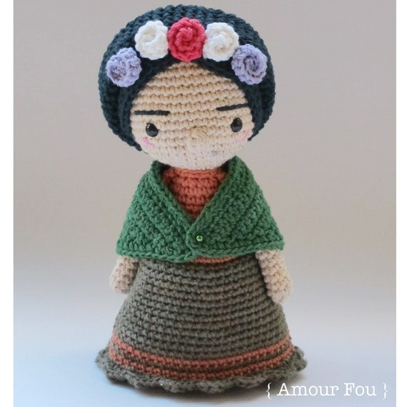 Mini Frida Crochet Pattern by Amour Fou | Etsy