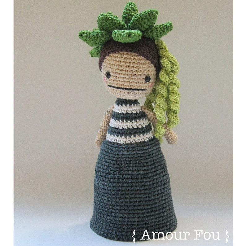 Flora The Succulent  Crochet Pattern by Amour Fou image 0