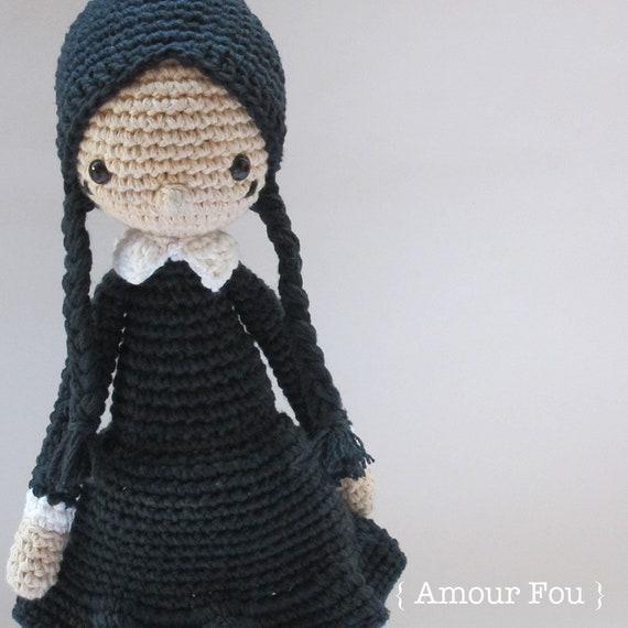 Miércoles Addams patrón de ganchillo por Amour Fou | Etsy