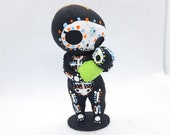 Skeleton Mom and Baby Sculpture Figurine Hand Painted 3D Printed