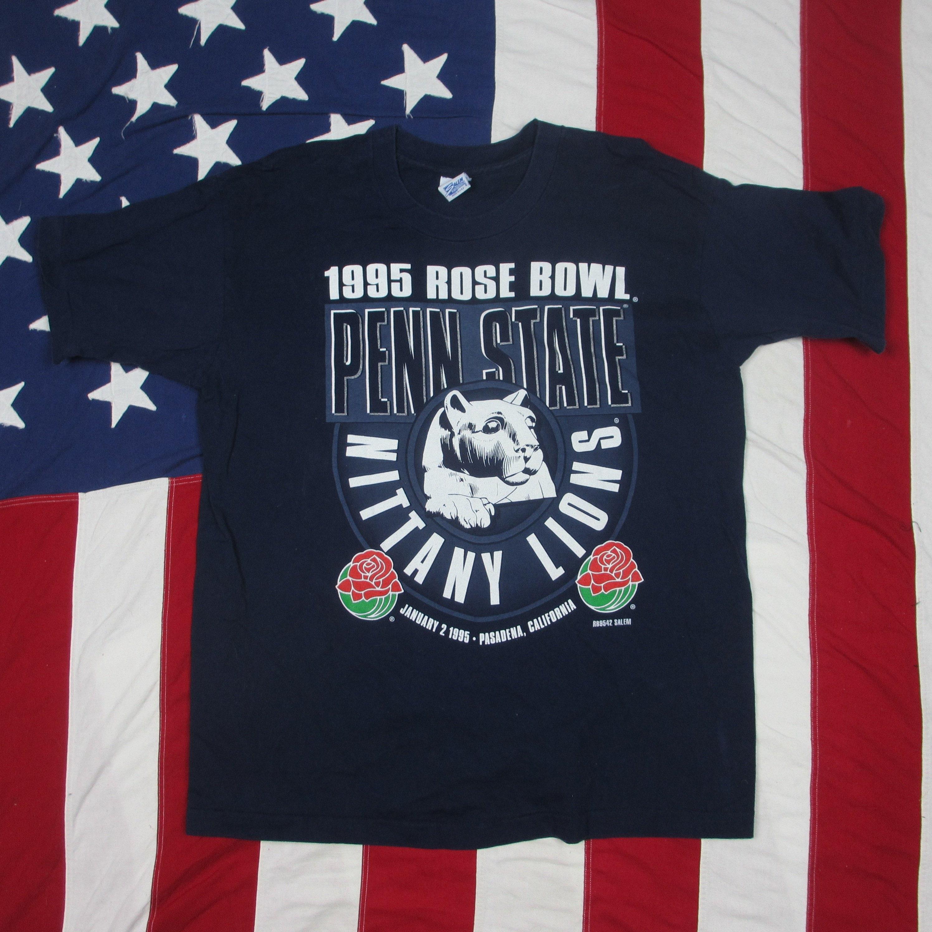 Années 1990 Penn State Nittany Lions Rose Bowl Salem Champions T-Shirt graphique grand Salem Bowl marine bleu Université NCAA de Football Happy Valley 124c2f