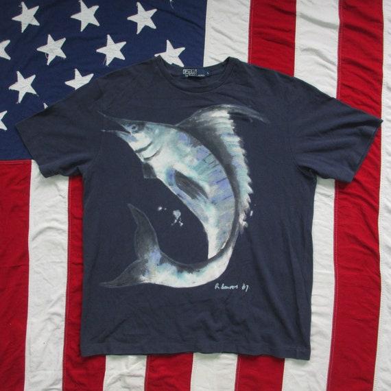 Vintage Ralph Lauren Polo Swordfish Marlin T-Shirt