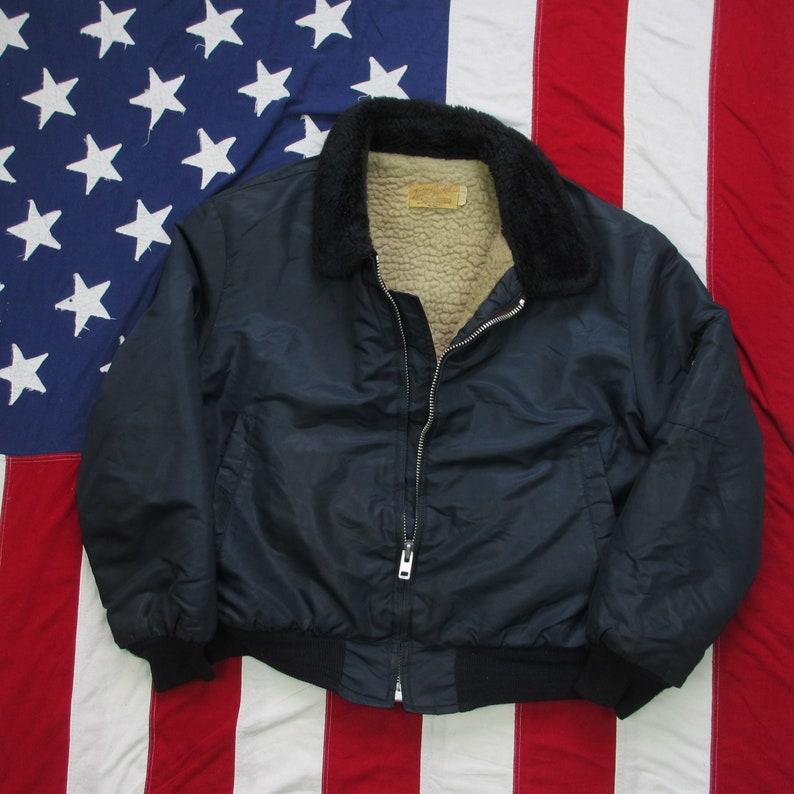 a891ac1c5 Vintage 1960's Flight Jacket Brand Lined Bomber Jacket   Etsy