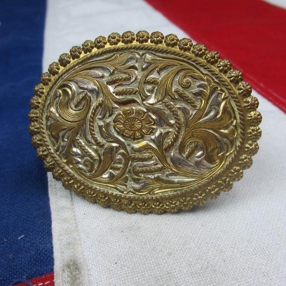 Bronze Floral Western Crumrine plaque dargent Daisy ceinture   Etsy 6470f7254ee