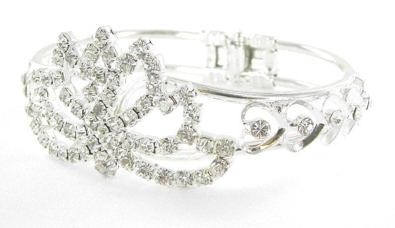Wedding Bracelet Bridal Bracelet Wedding Jewelry Crystal Bracelet Bridesmaid Bracelet Lotus Bridal Cuff Bracelet Statement Bracelet