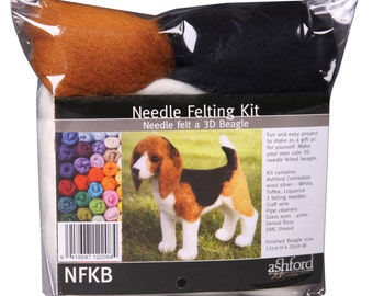 3D BEAGLE - Needle felting kit