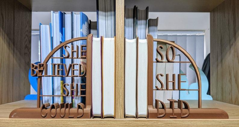 Decorative Lightweight Bookends  Scoring Wilder inspired  image 0