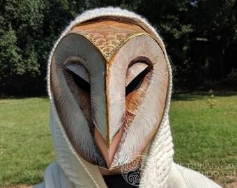 Barn Owl Low Poly Mask Pattern for Cardboard or EVA Foam