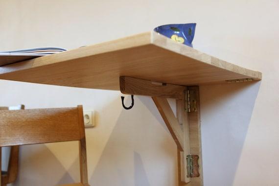Tavolo da cucina tavolo - piccolo tavolo da pranzo - tavolo con goccia -  Wall mount - a parete - spazio risparmio table - tavolo pieghevole