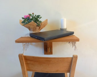 Small Space Solution Murphy Desk - Fold down desk - desk in wood for your laptop and home office - Furniture for small houses on wheels