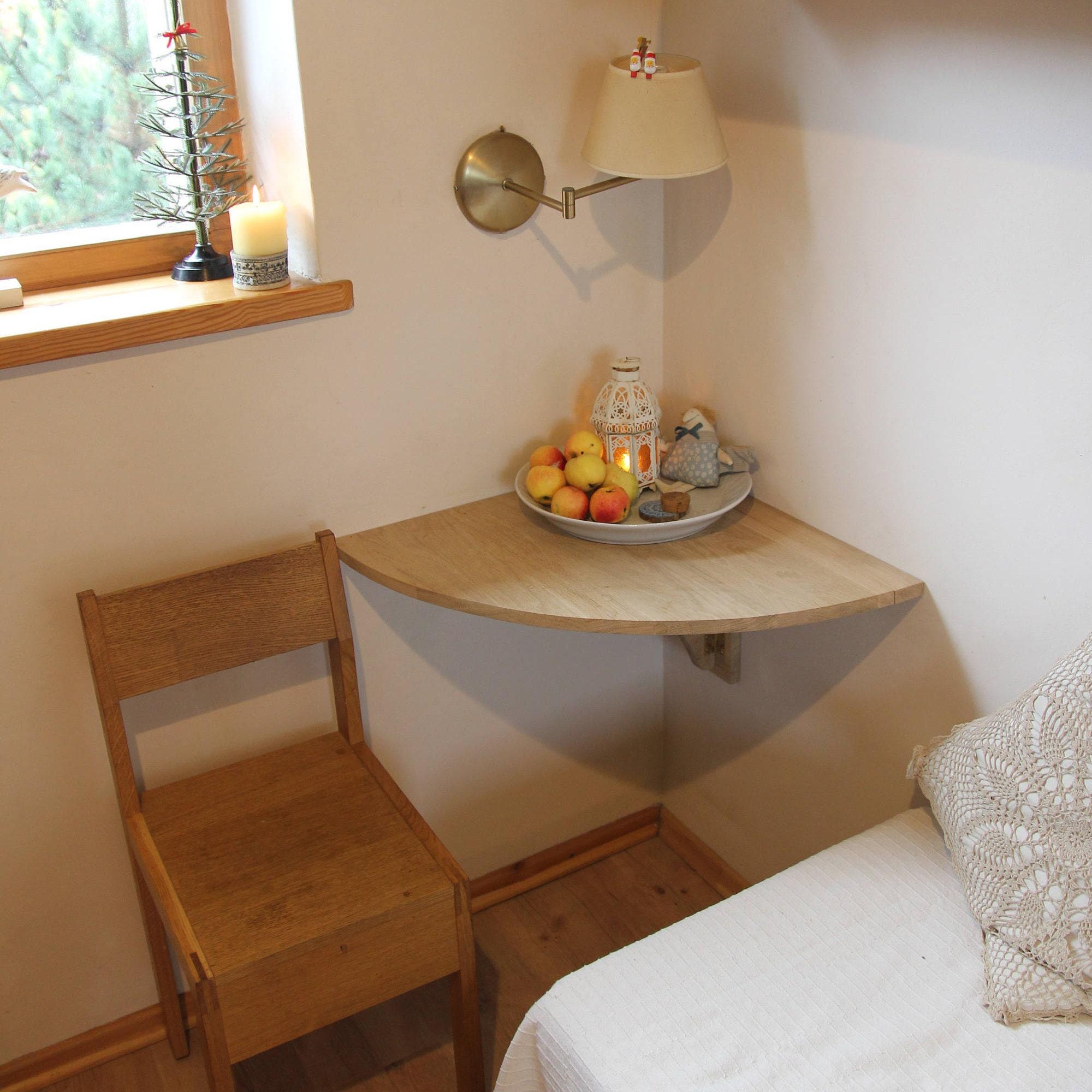 Wand-Ecke-Schreibtisch an der Wand Klapptisch Tisch | Etsy