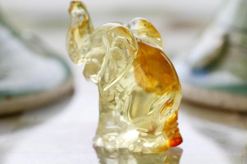 Hand carved Elephant amber Figurine  amberElephant amber carvingHand carved amber figurine  Elephant minature sulptureJust Beautiful
