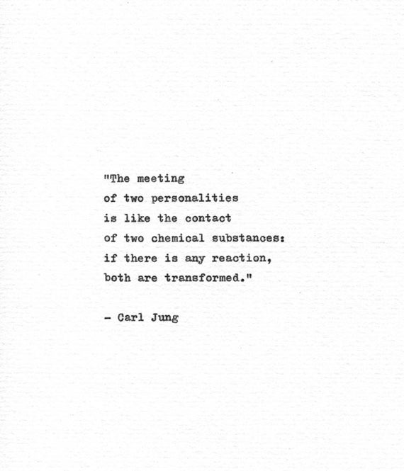 Carl Jung Hand Typed Quote