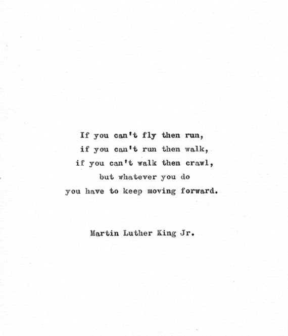 Martin Luther King Vintage Typewriter Quote Keep Moving Etsy