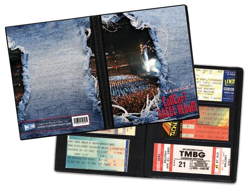 8d6a93cd5884 Personalized Concert Ticket Stub Album