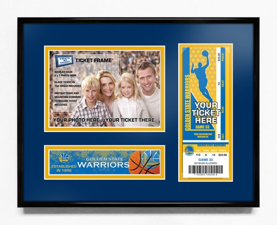 Golden State Warriors 5x7 Photo And Ticket Frame Team Logo Etsy