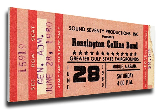 your concert ticket printed on canvas etsy