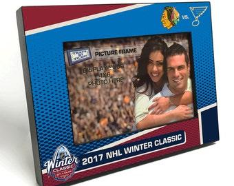 2017 NHL Winter Classic 4x6-inch Picture Frame - Chicago Blackhawks vs St Louis Blues