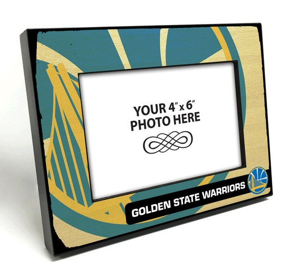 Golden State Warriors Black Wood Edge 4x6 Inch Picture Frame Etsy
