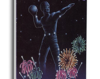 1990 Orange Bowl Canvas Mega Ticket - Notre Dame Fighting Irish