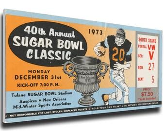1974 Sugar Bowl Canvas Mega Ticket - Notre Dame Fighting Irish