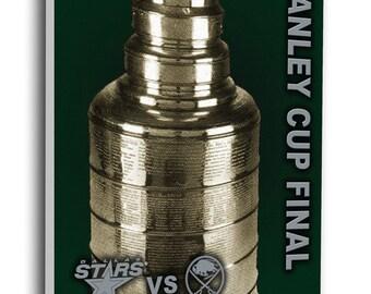 1999 NHL Stanley Cup Canvas Mega Ticket - Dallas Stars