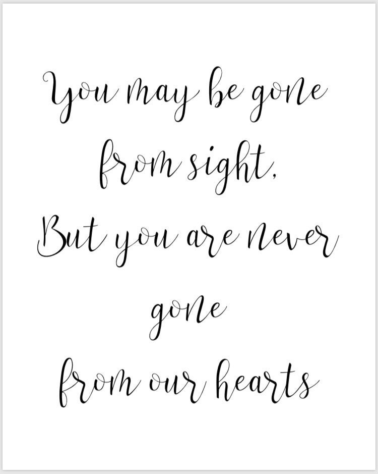 photograph about Gone From My Sight Printable Version identified as PRINTABLE 8x10 Yourself Could Be Absent Towards Sight Still By yourself Are In no way Long gone Towards Our Hearts Wedding day Signal