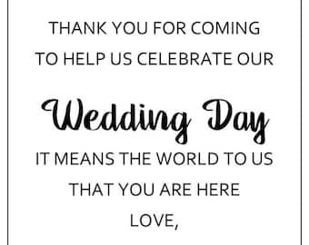 PRINTABLE Wedding Hotel Welcome Bag Tag