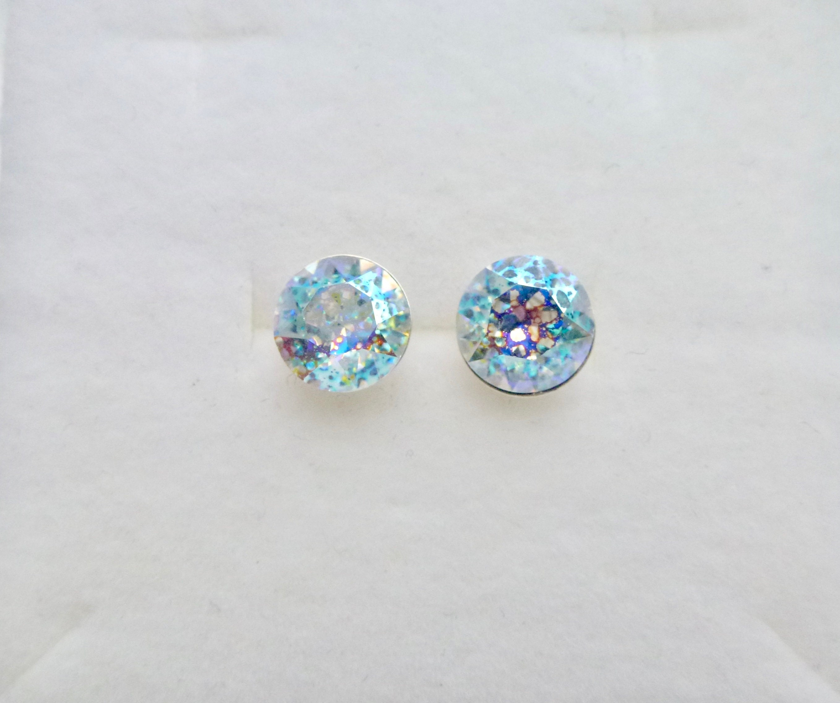 a836252f91f4 Sterling silver crystal white patina swarovski crystal round etsy jpg  2716x2272 Crystal white patina