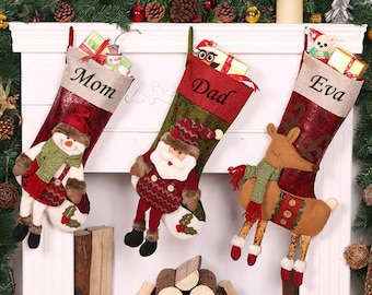 personalized 3d large christmas stockings holidays stockings presentgift collection bag christmas stocking collection 4722cm - Large Christmas Stockings