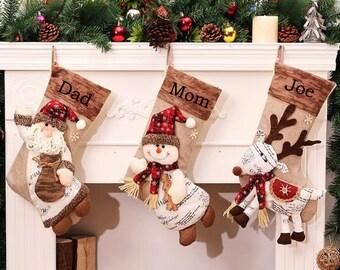 personalized christmas stocking holidays decoration snowman monogram christmas stockings christmas ornaments - Christmas Stockings Personalized