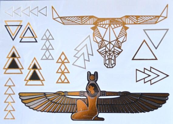 Tatouage Egyptien Tattoo De Taureau Tete Metallique Tattoo Etsy