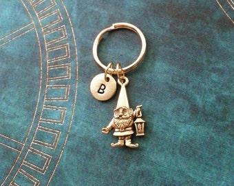 Gnome Keychain VERY SMALL Lawn Gnome Keyring Personalized Keychain Garden  Gnome Gift Lantern Keychain Fantasy Keychain Bridesmaid Keychain c13c72c85f