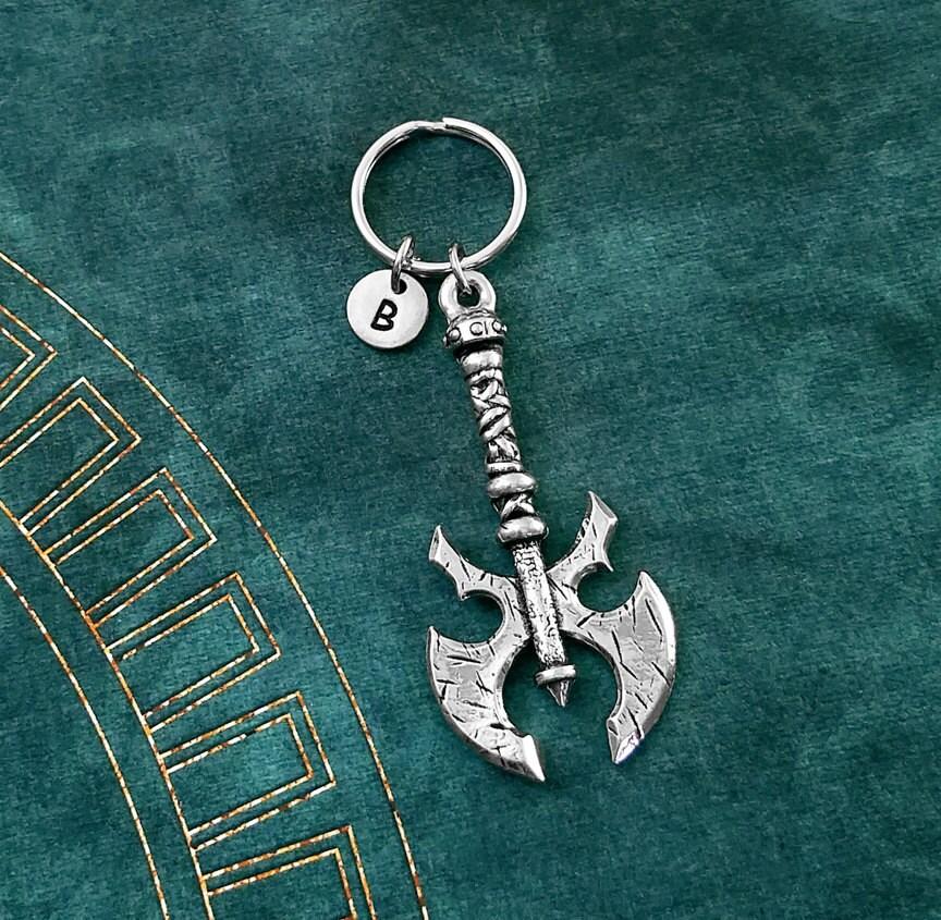 Gamer Keychain Geek Keychain Geek Gift Personalized Keychain SMALL Red Mushroom Keychain Toadstool Keychain Classic Video Game Keychain