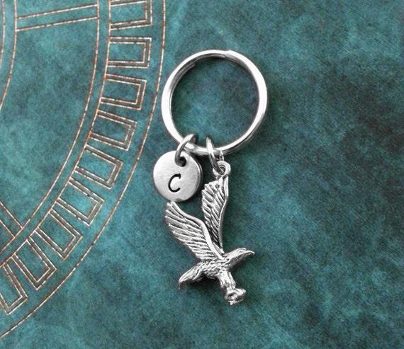 Eagle trousseau INFIME Flying Eagle porte-clés personnalisé Keychain cadeau pour papa pères jour trousseau patriotique copain Keychain porte-clés