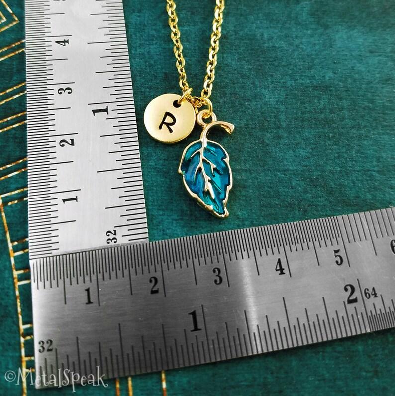 Leaf Keychain SET of 2 SMALL Leaf Keyrings Couple Keychain Sisters Keychain Best Friends Keychain Friendship Keychain Initial Charm Gift