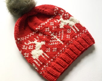a803429f956 Knitted moose hat