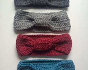 Winter headband crocheted